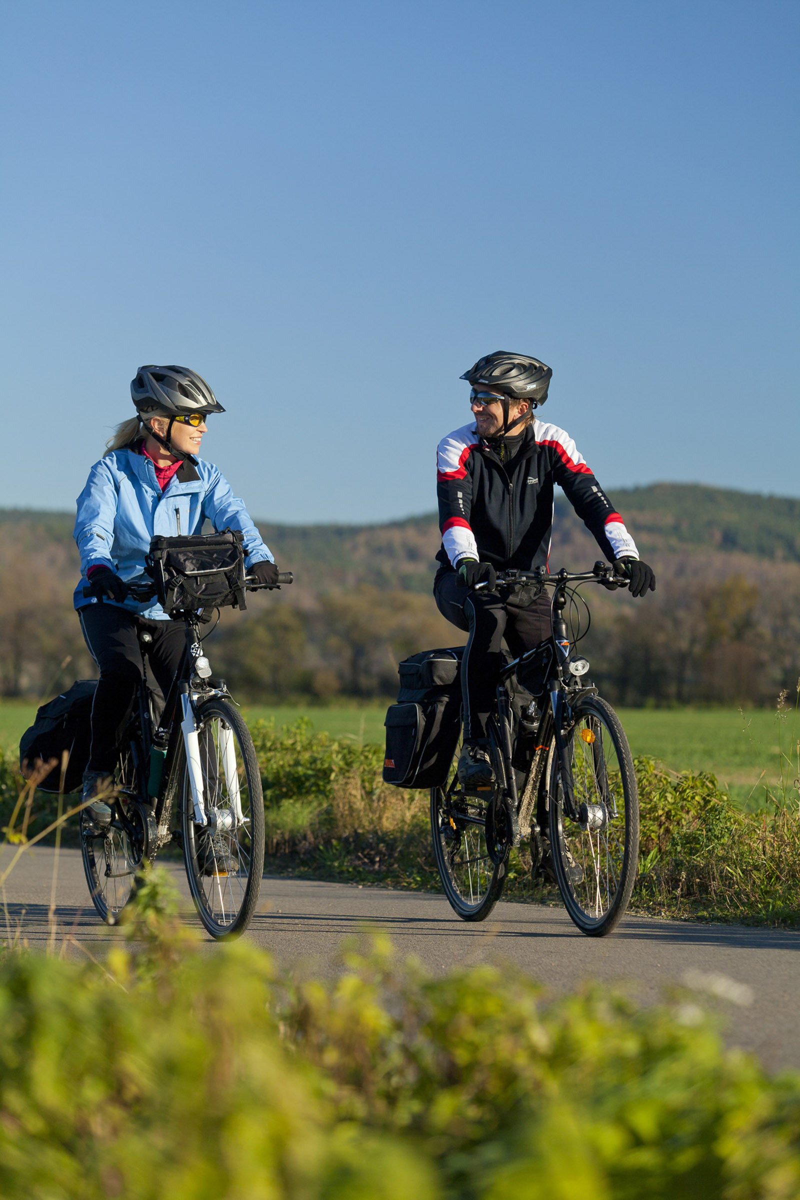 Rowerzyści na szlaku Green Velo