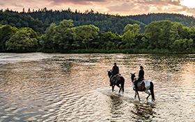 Przeprawa konna przez rzekę San