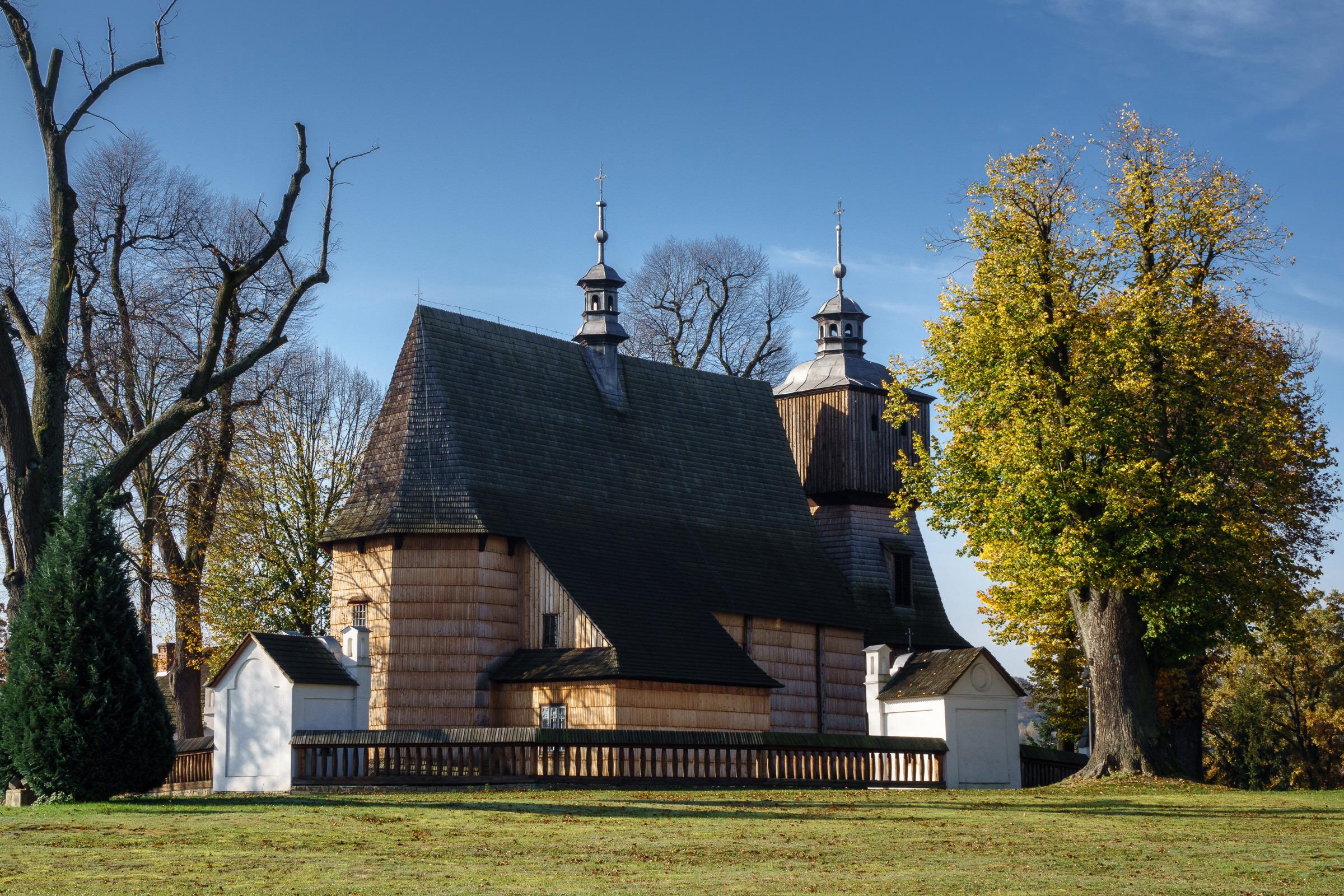 Gotycki kościół drewniany pw. Wszystkich Świętych w Bliznem. fot. Krzysztof Zajączkowski