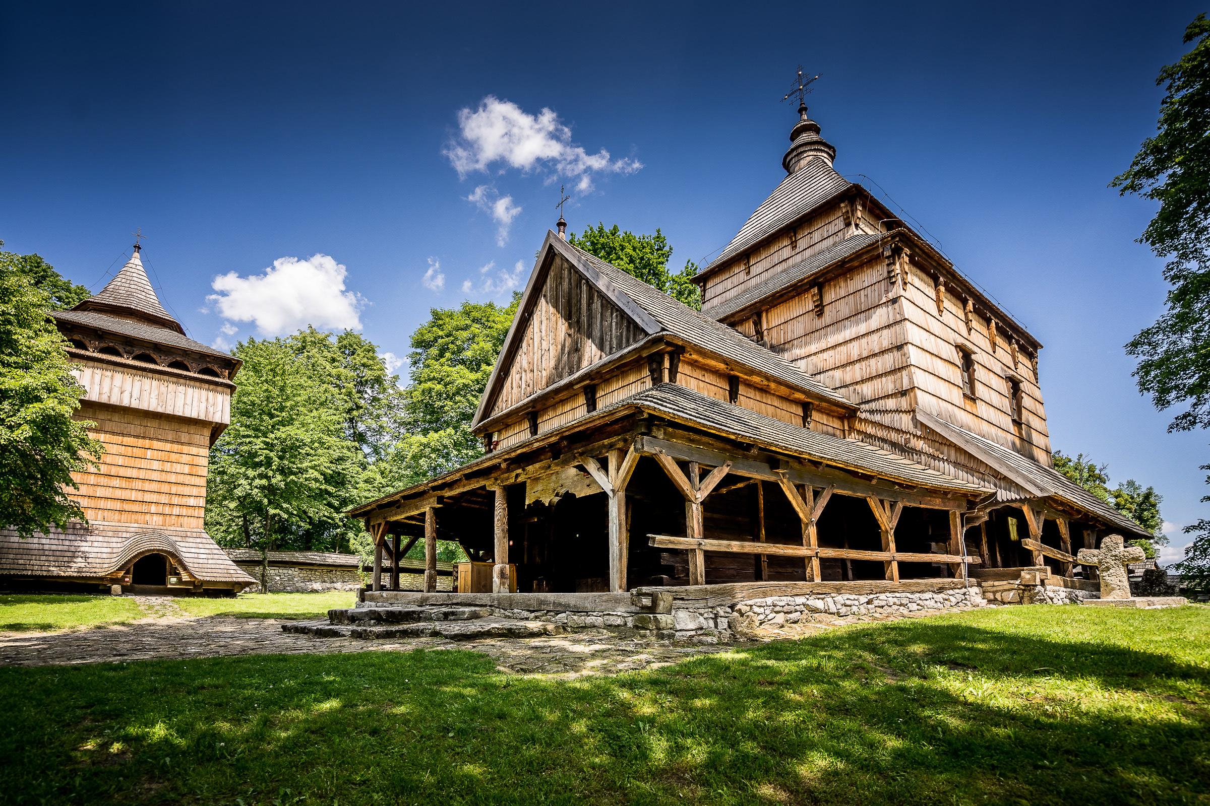Drewniana cerkiew greckokatolicka pw. św. Paraskewy w Radrużu. fot. Krzysztof Zajączkowski