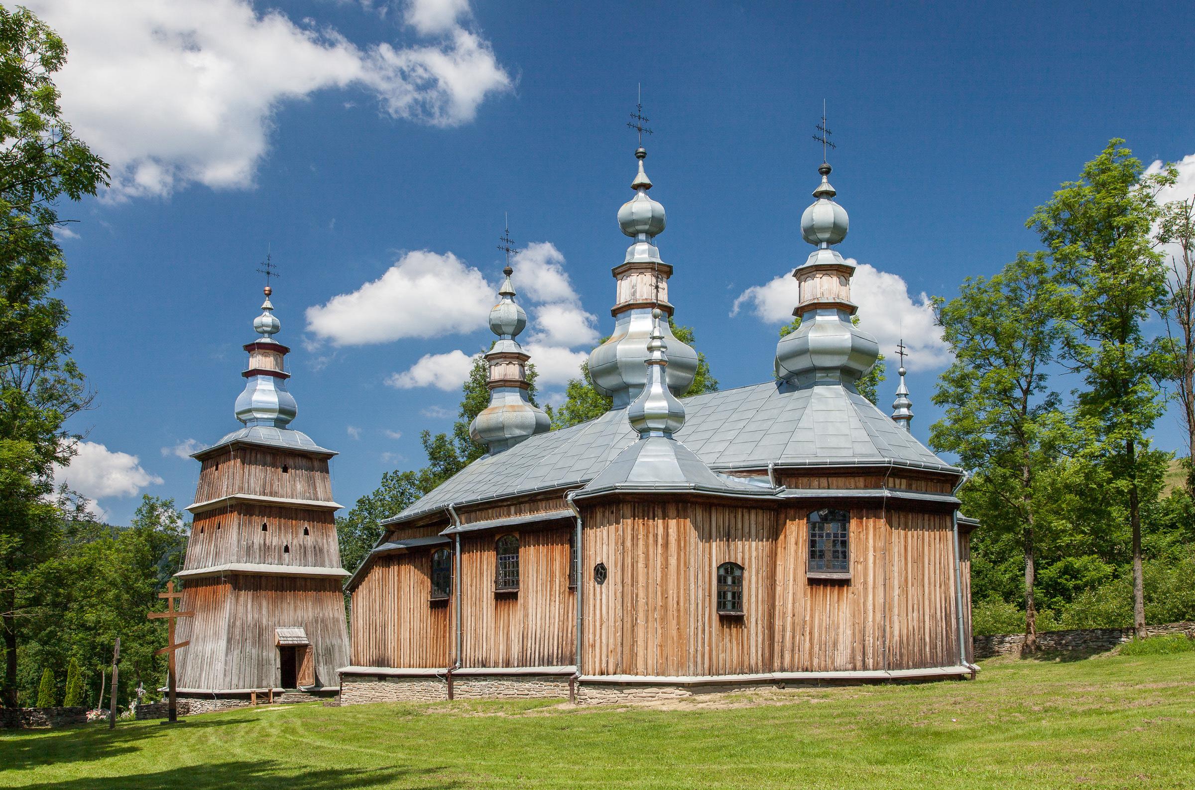 Drewniana cerkiew greckokatolicka św. Michała Archanioła w Turzańsku. fot. Krzysztof Zajączkowski